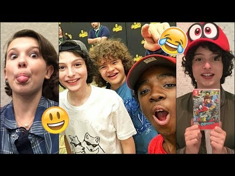 Stranger Things Cast Best And Funny Instagram Stories Snapchat Moments 2017 Youtube