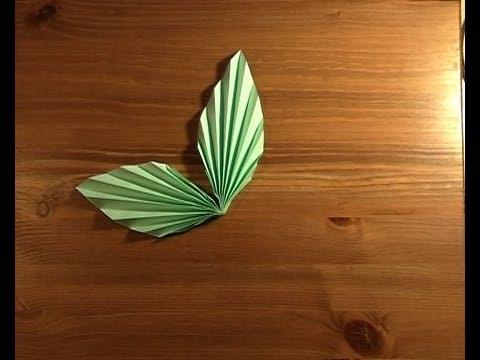 Origami Paire De Feuilles Pair Of Leaves Youtube