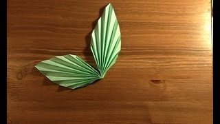 Origami Paire De Feuilles! Pair Of Leaves.mpg