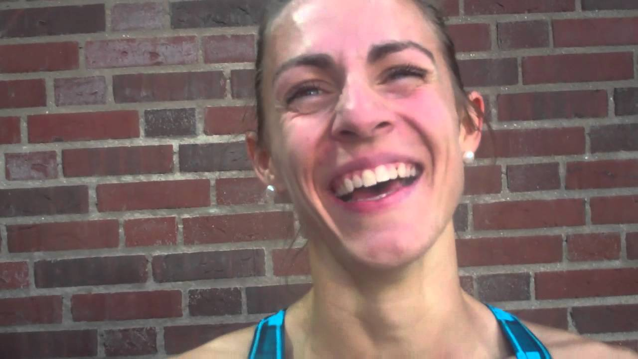 Jenny Simpson After 1500m at 2012 DN Galan Stockholm - YouTube