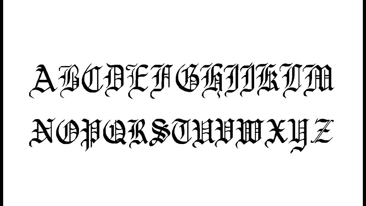 Japanese Calligraphy Font Generator Online How To Write Old English Gothic Font Calligraphy