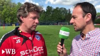 Arminia: Trainer Saibene zur Motivationsrede von Carsten Rump vor 6:0 gegen Braunschweig