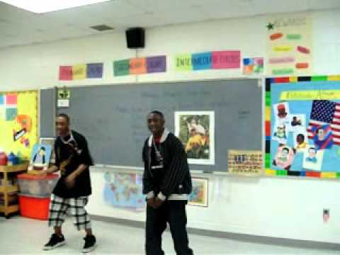 Teen Rap Artists perform for elementary students after conducting song writing workshop