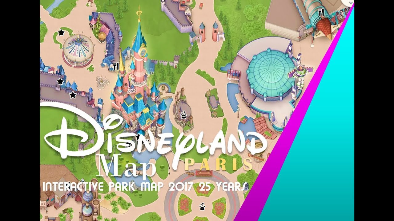 Disneyland Paris Hotels Map on
