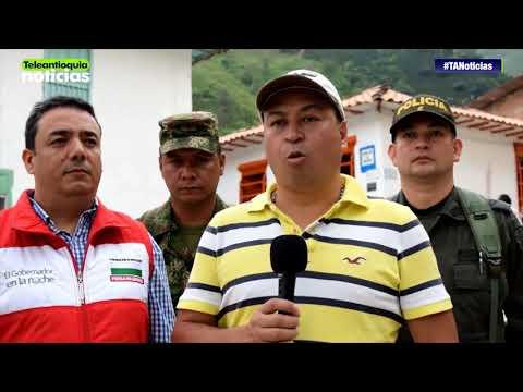 El Gobernador en la Noche llegó a San Andrés de Cuerquia