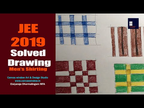 JEE 2019 Solved Drawing - Mens Shirt Materials | Canvas Window Art & Design Studio