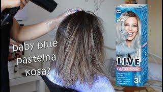 ISPROBALE SMO Schwarzkopf LIVE sprej 💆 - Baby (Icy) Blue
