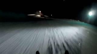 Ночное экстрим катание на санках на Роза Хутор трасса Б-52
