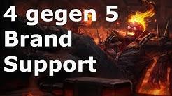 Episches 4 gegen 5 MUST WATCH League of Legends Platin Ranked Brand Support 06 [Gameplay Deutsch HD]