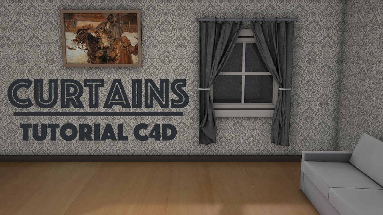 Curtain Tutorial C4d Real Curtains Simulation With Belt Cinema 4d