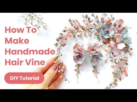 DIY Hair Accessory Handmade Idea. Wedding or Graduation Outfit. Spring Look 2019 - YouTube
