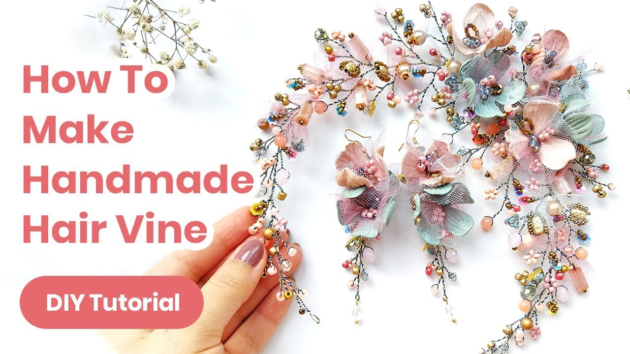 DIY Hair Accessory Handmade Idea. Wedding or Graduation Outfit. Spring Look 2019