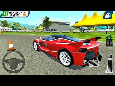 Kırmızı Yarış Arabası Park Etme Oyunu   Parking Masters Supercar Driver - Android Gameplay