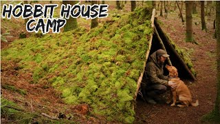 Building a Survival Shelter - Stealth Bushcraft Fort with NO TOOLS - Underground Living House