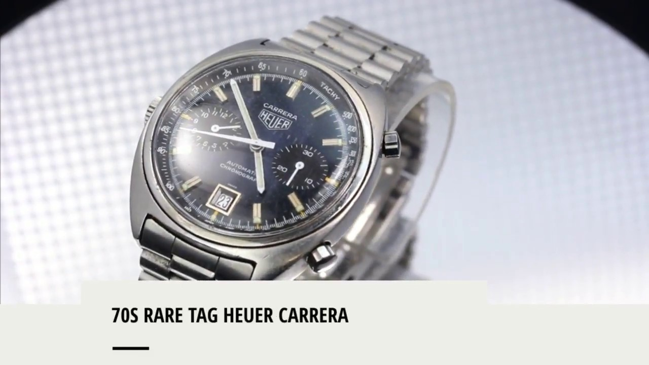 d11bfdc000d Men s Vintage 70s Rare Tag Heuer Carrera Automatic Chronograph Watch ...