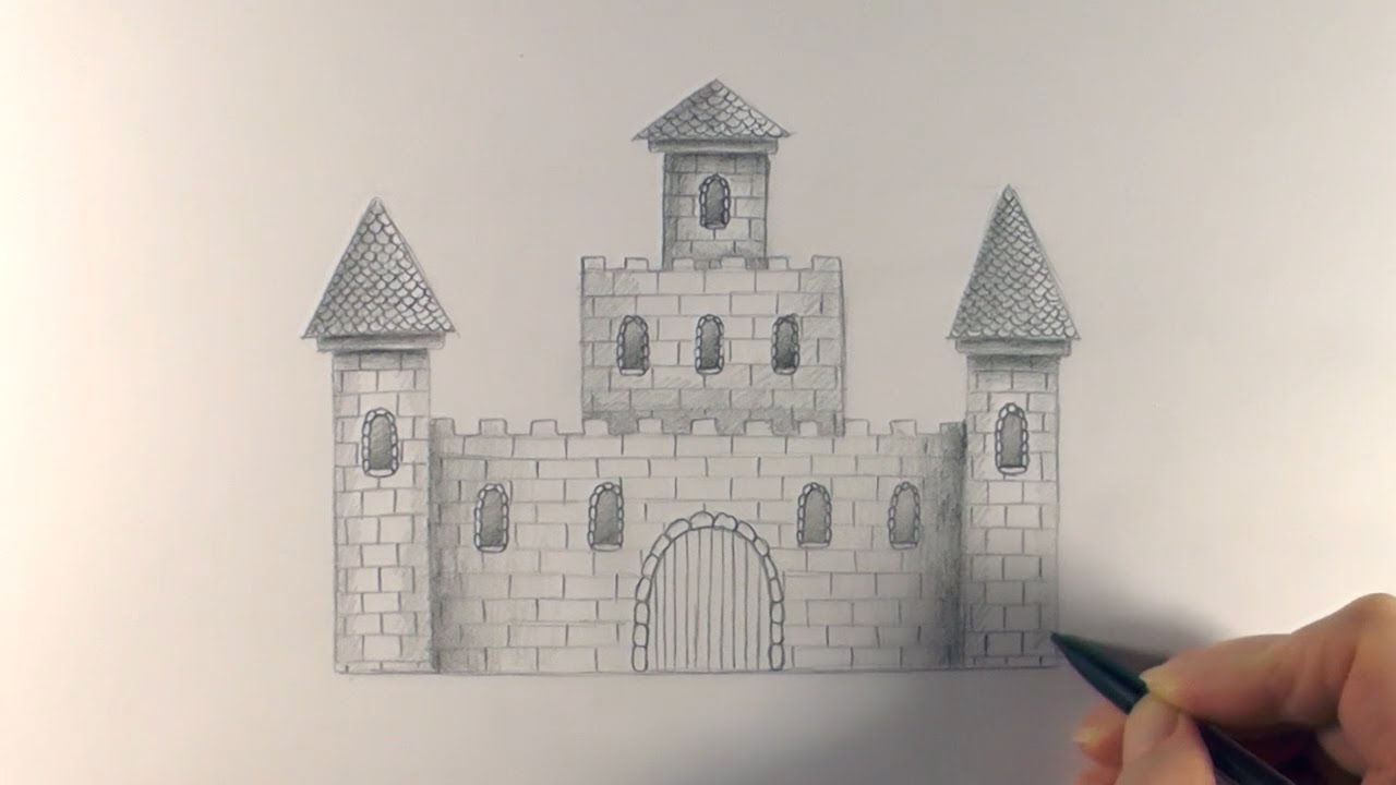 r e a p concept art how to draw a castle youtube