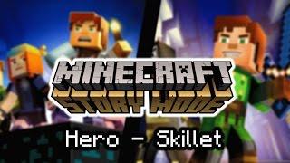 Video Minecraft: Story Mode | Hero - Skillet download MP3, 3GP, MP4, WEBM, AVI, FLV Desember 2017