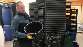 Обзор ведро строительное на 20 литров черное