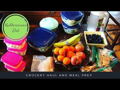 Mediterranean Diet – Weekly Grocery Haul & Meal Prep