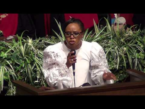 Evangelist Ruby Holland preaching at Amazing COGIC in Jxn,MS