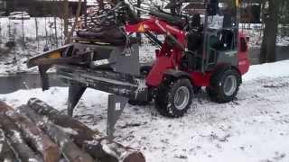 Brennholz sägen, spalten. Weidemann 1240 mit Hahn HFP150 Compact by Auto-Hentzschel GmbH