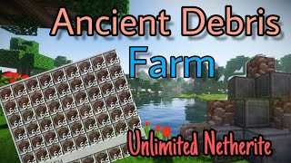 How to Make Ancient Debris Farm || Unlimited Nethrite || Itz RaCool