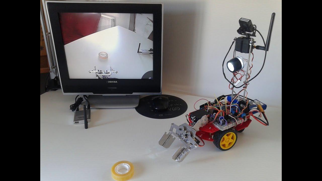 Arduino bt rc car android app clamp wireless camera mars