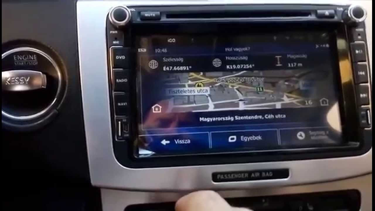 vw volkswagen golf gps android autoradio radio gps utilisation installation youtube. Black Bedroom Furniture Sets. Home Design Ideas