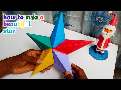 paper star making,  how to make star lantern for diwali, christmas