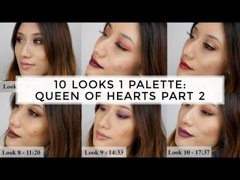 10 Looks 1 Palette Using Queen Of Hearts Palette by Coloured Raine - PART 2 Tutorial