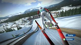 Vancouver 2010 game - ski jumping - gameplay