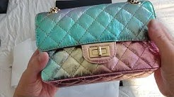 Chanel UNBOXING 20A Collections Iridescent Rainbow Aged Leather Mini Rectangular 2.25 Reissue