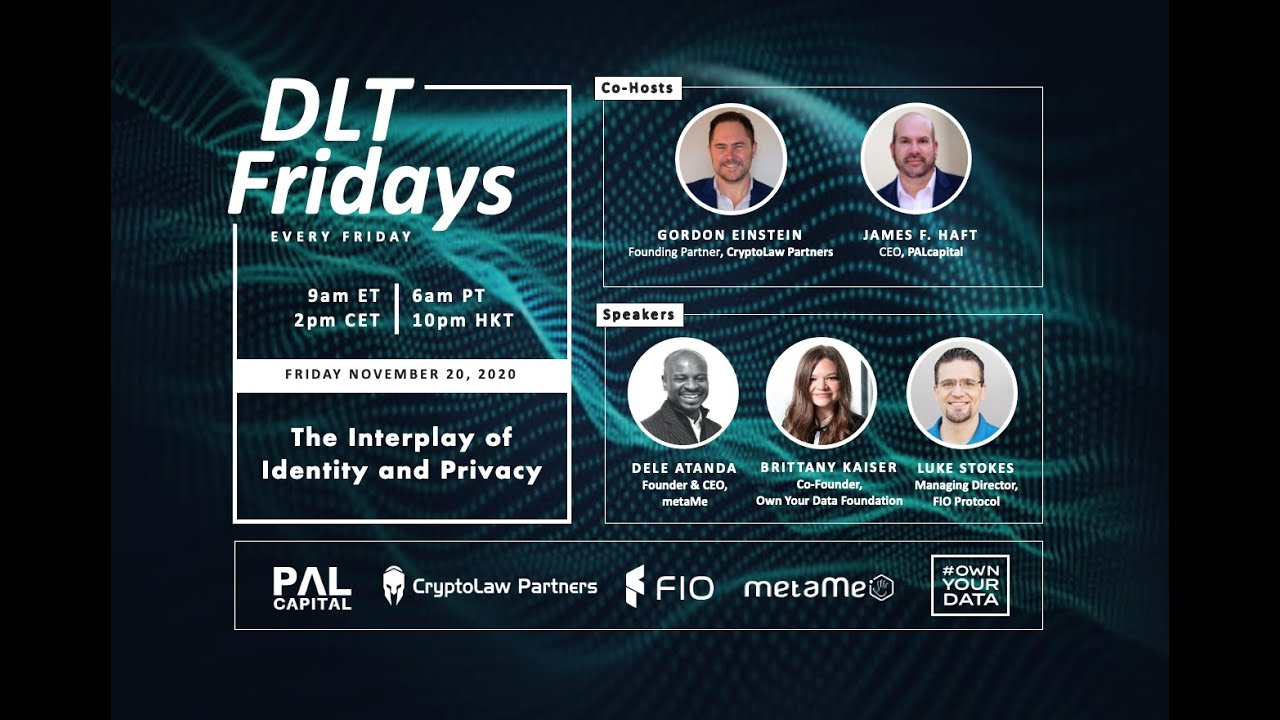 DLT Fridays | #2 | The Interplay of Identity and Privacy