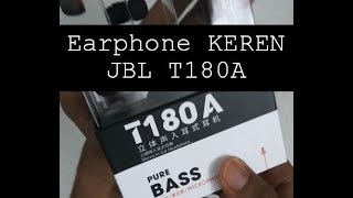 Unbox JBL Earphone T180A