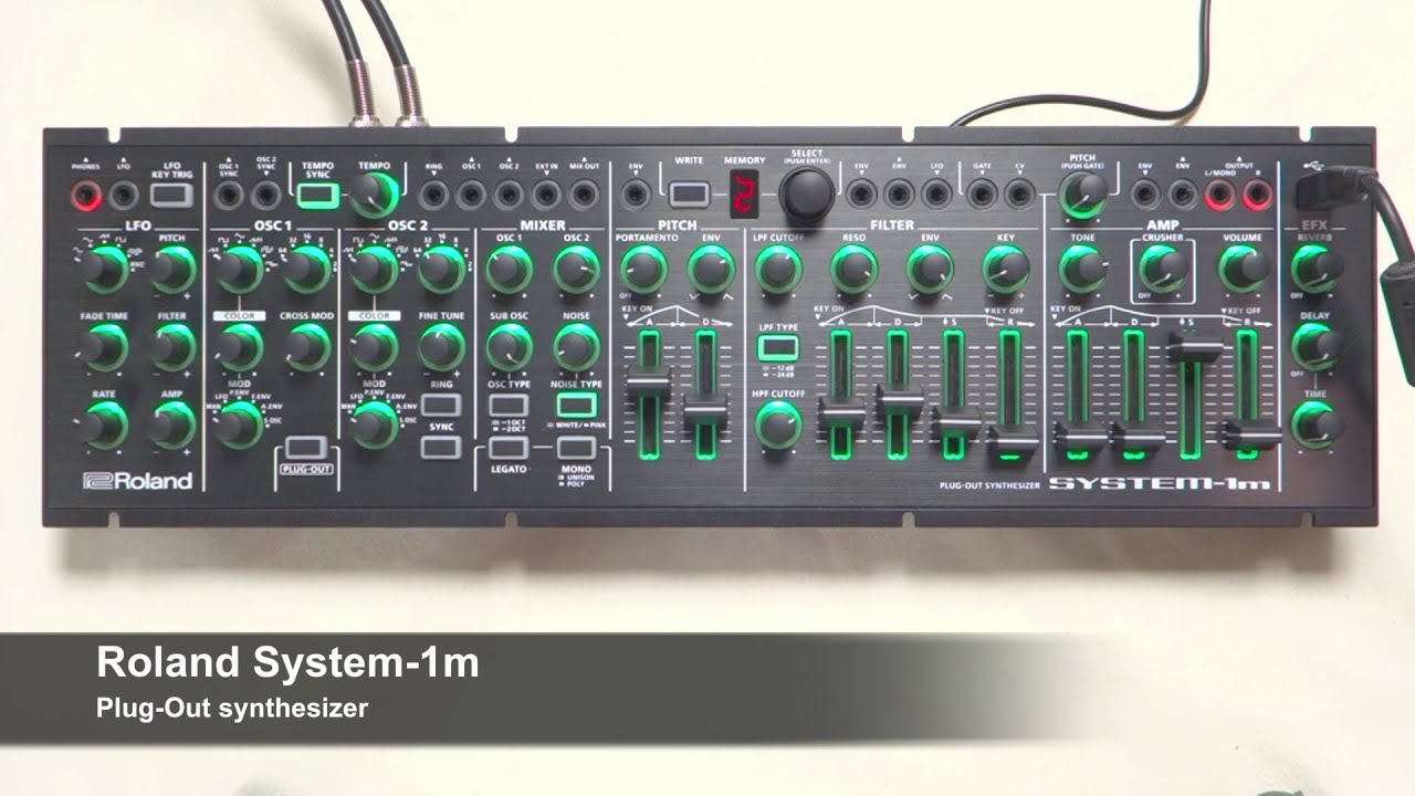 Exclusive Hands On Roland System 1m Plug Out Synthesizer