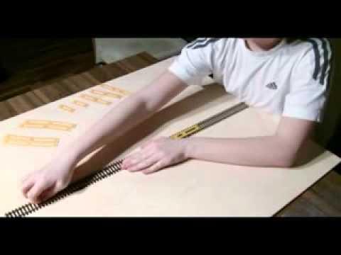 verwendung einer gleislehre f r das verlegen von flexgleisen youtube. Black Bedroom Furniture Sets. Home Design Ideas