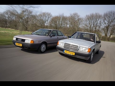 Youngtimer dubbeltest - Mercedes 190 vs Audi 80