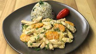 Kremalı hindi sote ve iç pilav tarifi - Kolay ve lezzetli iki yemek tarifi