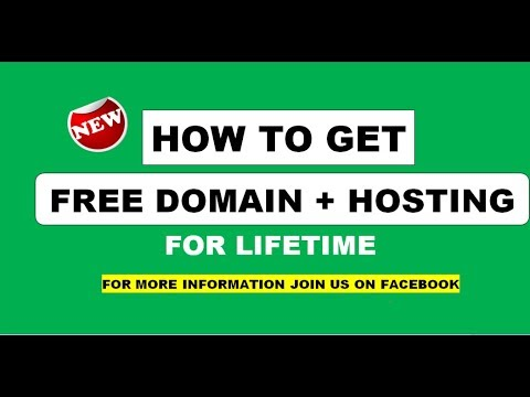 free domain and hosting for lifetime