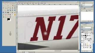 How to Change X-Plane 10 Tail Numbers - Editing Livery file using Gimp Part 1