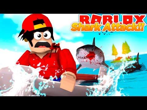 ROBLOX Adventure - NEW SHARK ATTACK GAME IN ROBLOX!!