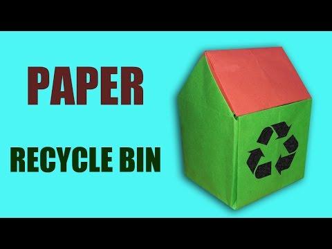Origami | Craft tutorial to make paper recycle bin| 3D recycle bin | DIY | Handmade