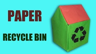 Origami | Craft tutorial to make paper recycle bin| 3D recycle bin | DIY | Handmade