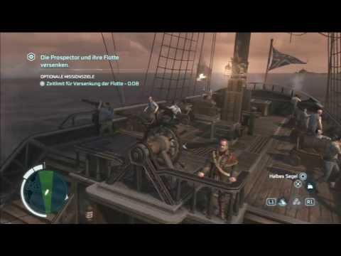 Assassins Creed 3   Maritime mission 100% syncron (Jagt auf die Prospector)