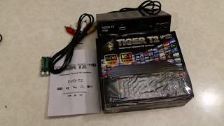 Распаковка эфирного DVB-Т2 приёмника TIGER T2 IPTV