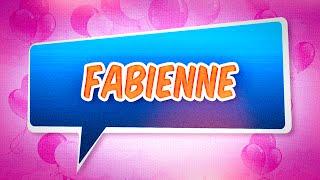 Joyeux anniversaire Fabienne