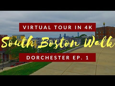Spaziergang von Dorchester Heights zum Fort Independence - Teil 1 - South Boston Virtual Tour in 4K