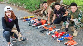 LTT Nerf War : SEAL X Warriors Nerf Guns And Captain Fight Armed Criminal Group