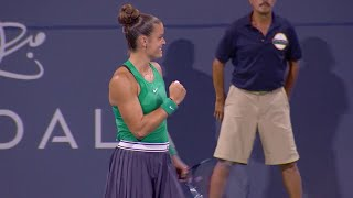 Maria Sakkari Defeats Venus Williams QF 2018 US Open Series Mubadala Silicon Valley Classic