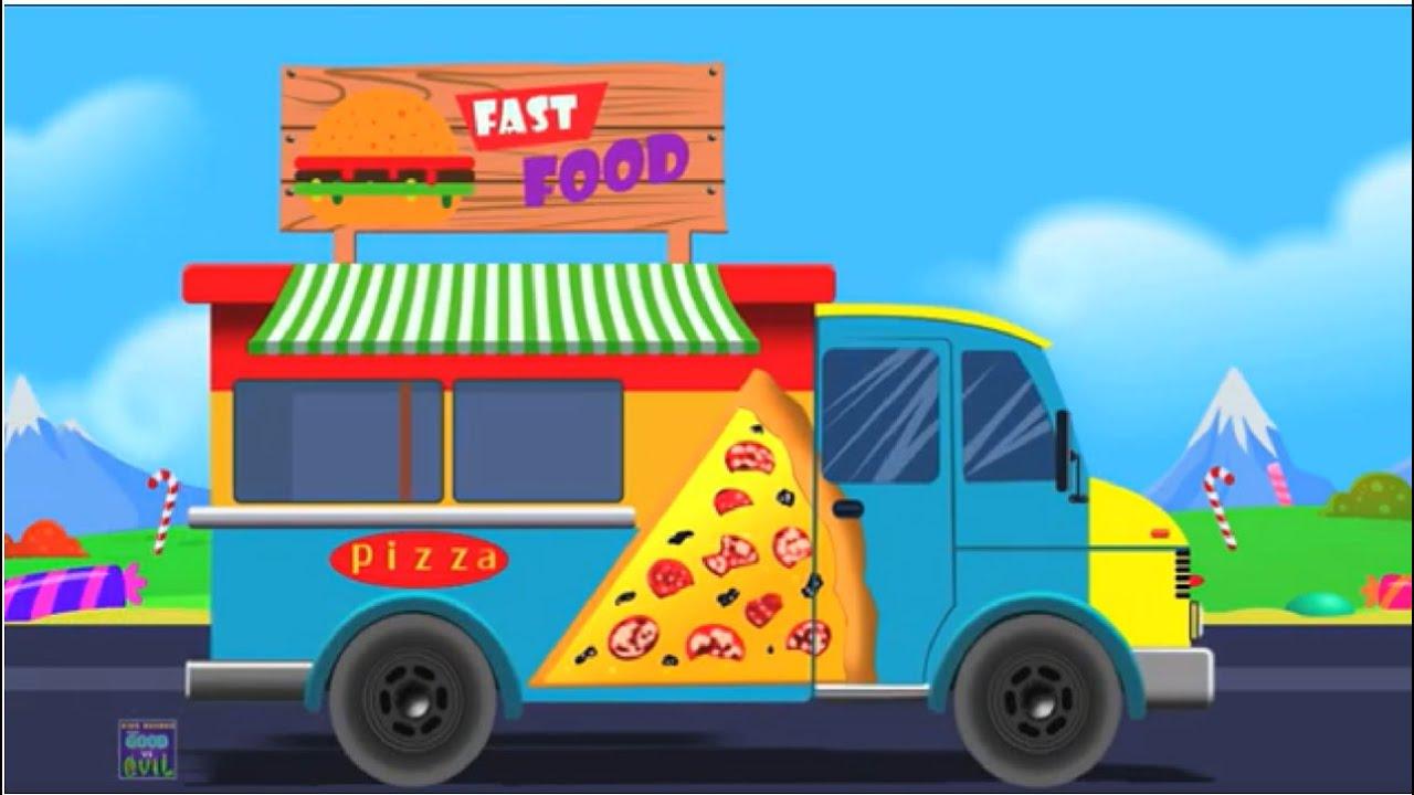 Fast Food Truck | Pizza Truck for Kids | Good Vs Evil Videos for Children | Kids Cartoon